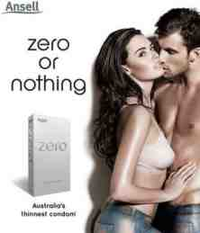 zero or nothing condoms advert