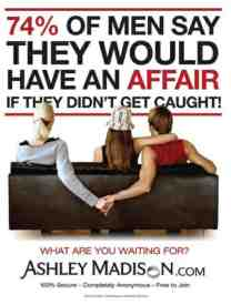 ashley madison 74 percent advert