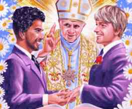 pope at gay wedding advert