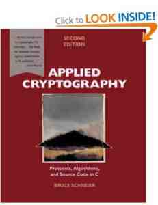 Applied Cryptography Protocols Algorithms Source