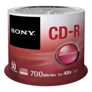 Sony 50CDQ80SP 700MB Spindle Discs