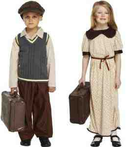 Wartime Evacuee Refugee Fancy Costume