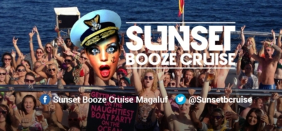 sunset booze cruise