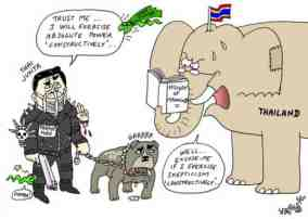 thai coup end martial law