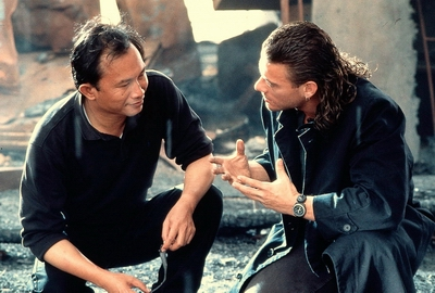 John Woo with Jean-Claude Van Damme