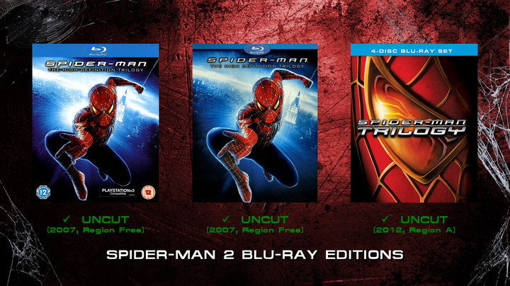 Spider-Man 2 Blu-ray Editions