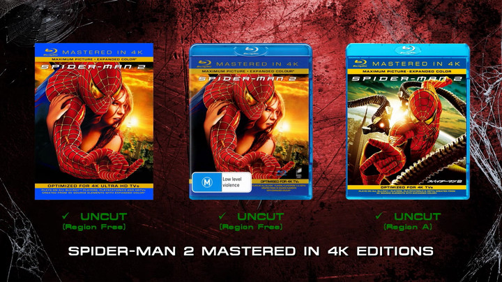 Spider-Man 2 4k Blu-ray editions