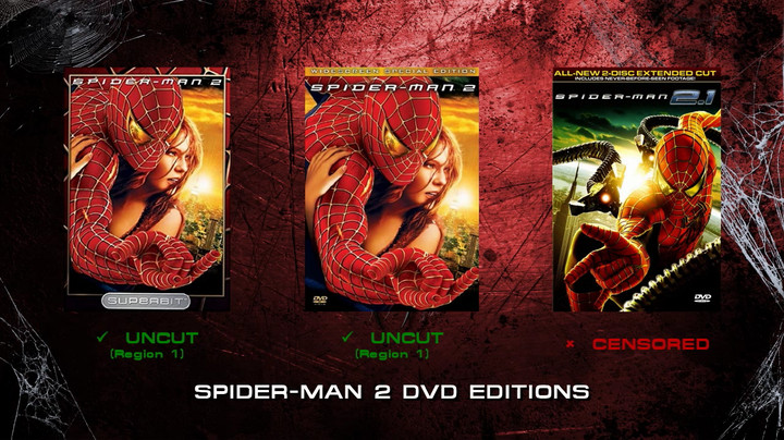 Spider-Man 2 DVD editions