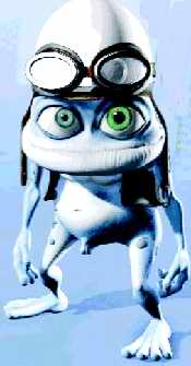 Crazy frog with appendage