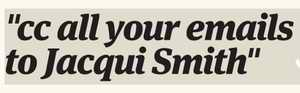 cc all your emails to jacqui Smith logo