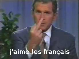 Finger gesture translated as j'aime les francais