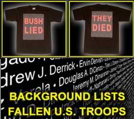 Bush Lied t-shirts