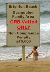CRB Vetted Only sign