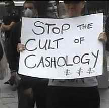 Scientology protestor