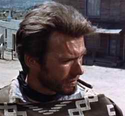 Clint Eastwood smking in a Fistful of Dollars