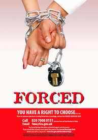 Forced Marriage, UK helpline poster