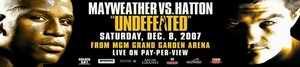 Hatton vs Mayweather poster