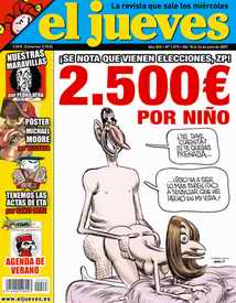 Magazine cartoon with Spanish prince