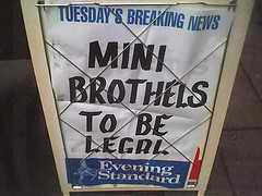 Headline: Mini brothels to be made legal