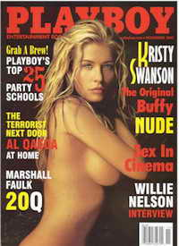 Playboy magazine cover