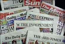 A selection fo newspapers