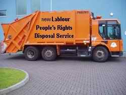 New Labour people's rights disposal lorry