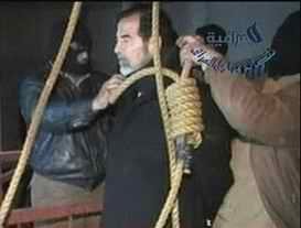 Saddam in preparation for hanging