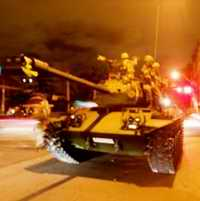 tank used in military coup