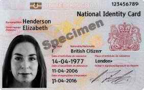 UK ID Card 2009
