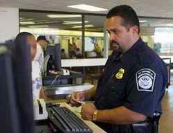 Immigration officer at airport