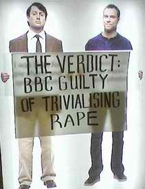 Banner: The Verdict: BBC guilty of trvializing rape