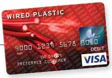 Wired Plastic Visa Card