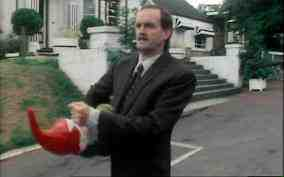 basil fawlty with gnome