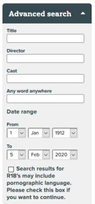 bbfc advanced search options