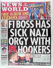 News of teh World Max Mosley issue