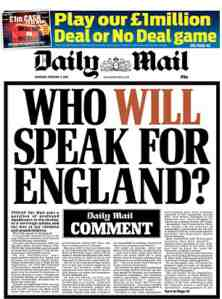 daily mail speaking for england