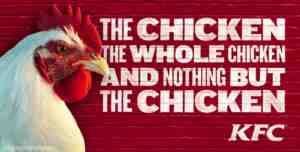 kfc nothing but the chicken