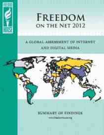 freedom house freedom on the net 2012